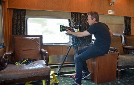 Doug Aitken filming on PV Tioga Pass